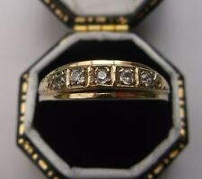 Women's 10ct Gold Ring Cubic Zirconia Stones Ring Size O Stamped Weight 2.5g