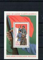 DDR - Briefmarkenblock 1973 - 20 Jahre Kampfgruppen  - Block 39 - Postfrisch