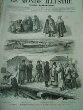 Gravure 1876 - Oriant de Belgrade à Odessa