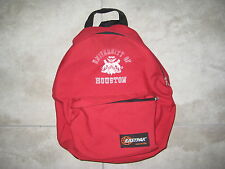 Vintage UH Houston COUGARS LOGO Eastpak Red Backpack Carry On Bag USED Luggage