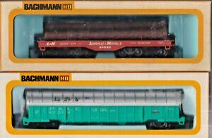 Bachmann HO COVERED COIL CAR P & LE 42279 1223 L & N 24562 HEAVY DUTY FLAT CAR