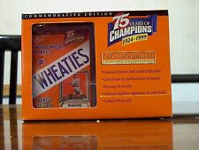 24K Gold Wheaties Lou Gehrig replica box, MIB, COA