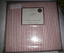ZARA Kingsize duvet cover 100% cotton 150 thread count new red and white Spotted