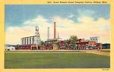 Billings Montana Great Western Sugar Co Factory Linen Antique Postcard K22105