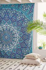 Tapisserie Tenture Indienne Mandala Hippie Décoration Dortoir Couvre-lit