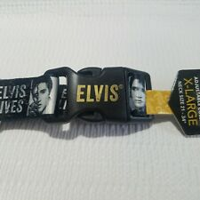 """Elvis Presley Dog Collar XL Pet Collection Adjustable 21""""-34"""" ID Tag The King"""