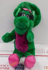 "Vintage R Dakin Barney Baby Bop 12"" Hand Puppet Plush Toy"
