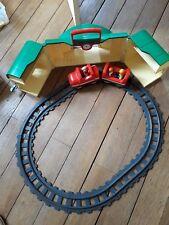 PLAYMOBIL 123 TRAIN 6783 AVEC GARE TRANSPORTABLE
