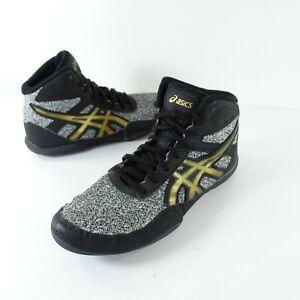Dan Gable US 2.5 Wrestling Shoes 1084A008 Kids black stone gold Youth Boys