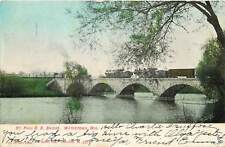 Wisconsin, WI, Watertown, ST Paul R R Bridge UDB (pre-1907) Postcard