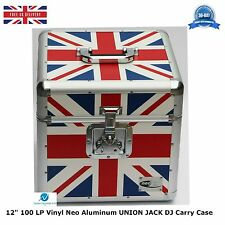 "1 X NEO Aluminum UNION JACK Storage DJ Carry Case for 100 Vinyl LP 12"" Records"