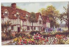 Vintage Postcard - Mary Arden's House - W Carruthers (Salmon) - Unposted (ii)