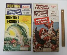 New ListingLot (6) Vintage [1952-1954] Hunting And Fishing Magazine Back Issues Dogs yz2794
