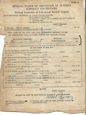 1948 Nashville Volunteers Kinsey Signed Southern League Baseball Contract