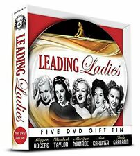 LEADING LADIES FIVE DVD GIFT TIN - GINGER ROGERS, ELIZABETH TAYLOR & MORE