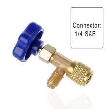 1/4 SAE Auto AC peut Robinet Valve bouteille accé pour R22 R134a gaz R410A C