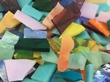 1 Pound Mosaic Stained Glass Scrap