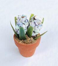 Vintage Dollhouse Miniature Artisan Sea Shells Flowers in Clay Pot OOAK