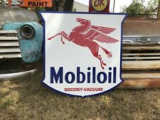 "Antique Vintage Old Style Mobil Oil Pegasus Service Station Sign Mobiloil 40""!"