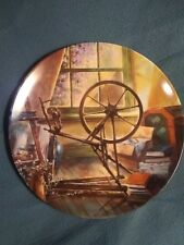 The Antique Spinning Wheel collector plate Maurice Harvey Country Nostalgia