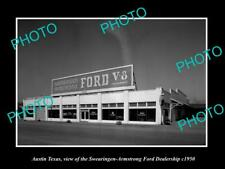 OLD POSTCARD SIZE PHOTO OF AUSTIN TEXAS THE FORD MOTORS CAR DEALERSHIP c1950