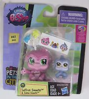 Littlest Pet Shop Saffron Sweetin #41 & Zanna Sweetin #42 Pets In The City NEW