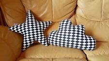 Cloud Shaped Stars 2 pillows cushion art decorative nursery cotton 100% 16X12inc