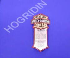 oem Harley Davidson Curved Metal Emblem springer shock decal emblem fxsts flsts