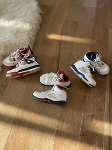 🔥 Nike Air Jordan Lot! Jordan 5 Grape Teal Jordan 5 Red Jordan 4 Fire Red