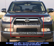 For 10-12 2011 2012 Toyota 4Runner Black Billet Grille Grill Combo Insert
