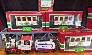 LGB Circus Train!!! Locomotive 2020 Tender 2217/6  & 3 Passenger Cars (3036)