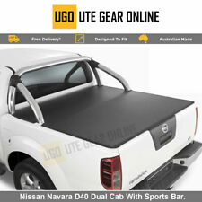 Clip On Ute Tonneau Cover for Nissan Navara D40 Dual Cab With Sports Bar.
