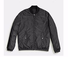 Coach Mens Reversible Jacket F86519 FES Packable Down MA-1 Black/Black Foulard