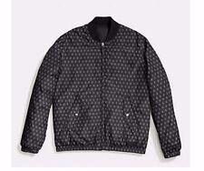 NWT Coach Mens Reversible Jacket F86519 Packable Down MA-1 Black/Black ;Foulard