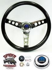 "1968-1969 Charger Coronet Dart steering wheel MOPAR 13 1/2"" GLOSSY GRIP"