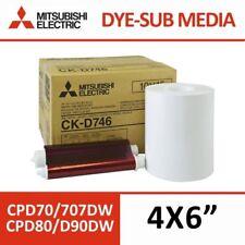 Mitsubishi CK-D746 4x6 Media Pack (800 impresiones por caja)