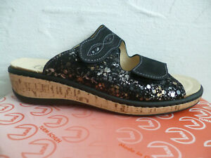 Turm Ladies Mules Slippers House Shoes Real Leather Black New
