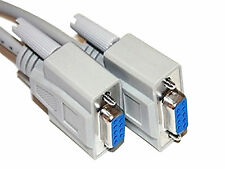 1.5M Female to Female F/F Serial DB9F 9 Pin RS232 PC Converter Extension Cable