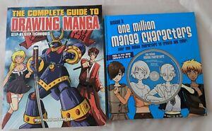 Manga 2 Book Lot Drawing Guide Comic One Million Manga Characters w CD