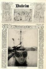 """Der neue Kreuzer """"Emden"""" der erste Schiffneubau nach dem 1.Weltkrieg von 1925"""