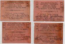 Philippines Culion Leper Colony S244  S251 S252 S253 1c 5c 20c 50c UNC Notes