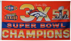 Denver Broncos 3 Time Super Bowl Champions 3X5FT Flag US Shipper