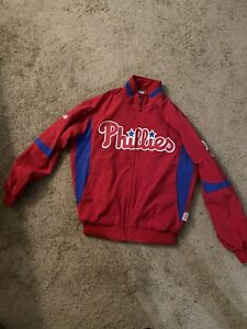 Majestic Authentic Philadelpha Phillies Therma Base Dugout Jacket Men's Large