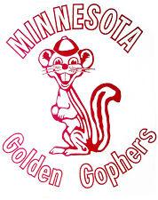 MINNESOTA GOPHERS T-SHIRT IRON ON U of M 1970's VINTAGE MEMORABILIA GOLDY GOLDEN