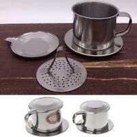 HOT Stainless Steel Vietnam Vietnamese Coffee Simple Drip Filter Maker Infuser