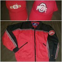 Vintage Ohio State Buckeyes Pro Player Full Zip Jacket Mens M Starter Hat Lot