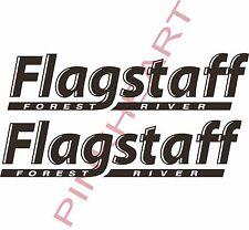 "2- Flagstaff RV sticker decal graphics trailer camper rv 26"" forest river USA"