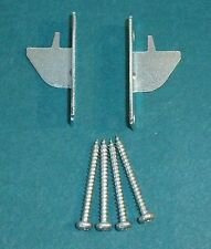 1 pair KIRSCH Lockseam SINGLE CURTAIN ROD BRACKETS with Screws - NIP