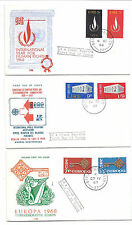 Ireland First Day Cover FDC Lot of 3 242-243, 266-267, 270-271 - 1968-1969*