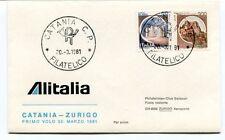 FFC 1981 Alitalia Primo Volo Catania Zurigo Swissair